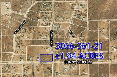 Phelan Residential Lots & Land For Sale: Sunny Slope Road