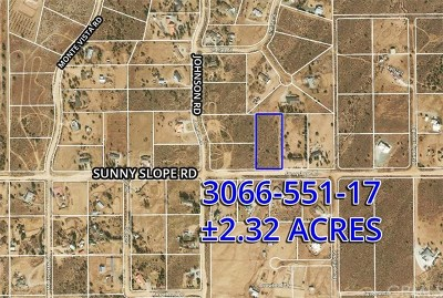 Phelan Residential Lots & Land For Sale: Sunnyslope Road