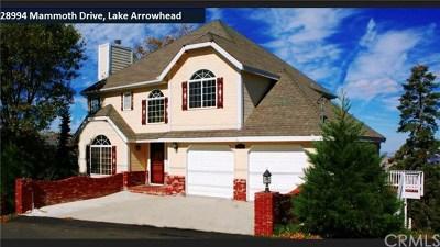Lake Arrowhead Single Family Home For Sale: 28994 Mammoth Drive