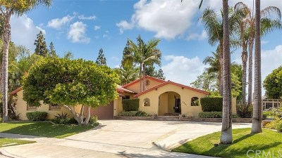 Costa Mesa Single Family Home For Sale: 3001 Capri Lane