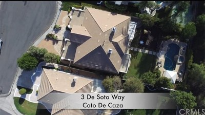 Coto De Caza Single Family Home For Sale: 3 De Soto Way