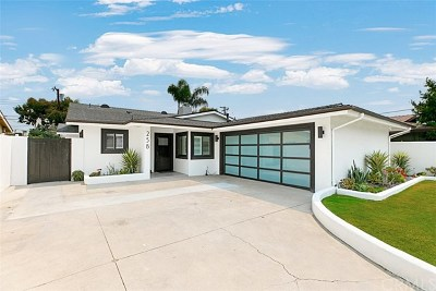 Costa Mesa Single Family Home For Sale: 258 Cecil Place