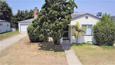Costa Mesa Single Family Home For Sale: 1923 Church Street