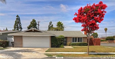 Fountain Valley Single Family Home For Sale: 17183 Palm Street