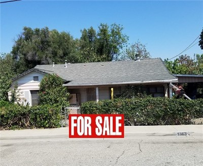 Corona Single Family Home For Sale: 1363 Pleasant View Avenue