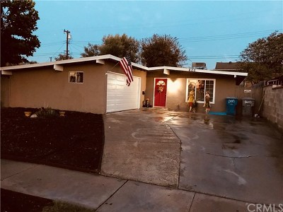 La Habra Single Family Home For Sale: 600 Clifton Street