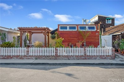 Newport Beach Single Family Home For Sale: 231 61st Street
