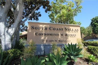 Santa Ana Condo/Townhouse For Sale: 1001 W Macarthur Boulevard W #116