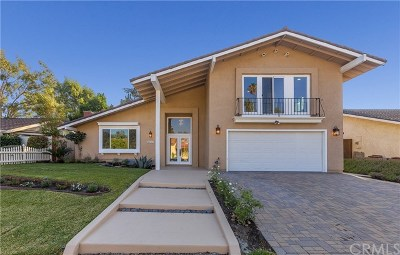 Mission Viejo Single Family Home For Sale: 26562 Cortina Drive