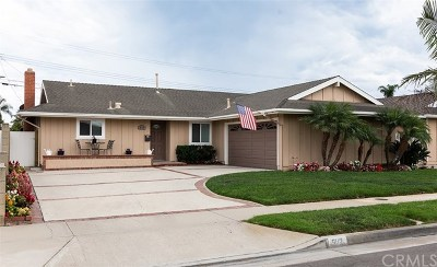 Huntington Beach Single Family Home Active Under Contract: 6112 Wintergreen Drive