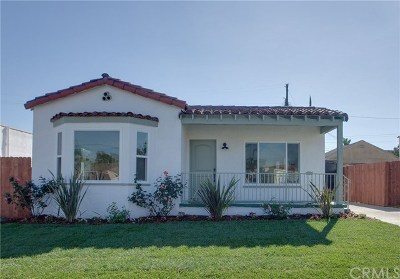 Los Angeles Single Family Home For Sale: 1544 W 93rd Street