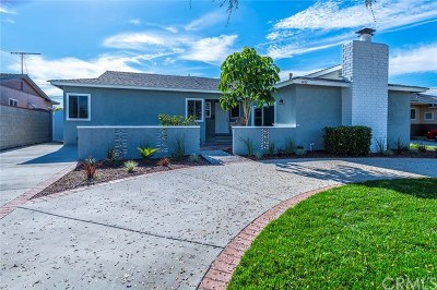 Fullerton Single Family Home For Sale: 1456 Central Avenue