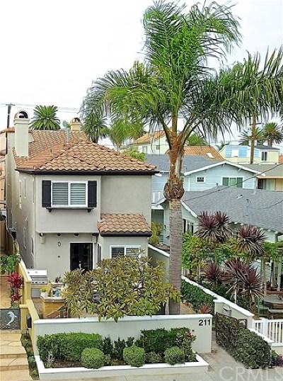 Huntington Beach Single Family Home For Sale: 211 8th Street