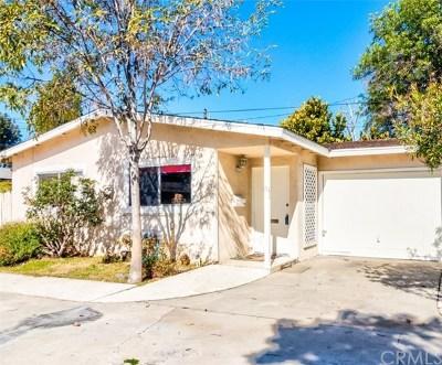 Orange Single Family Home For Sale: 382 N Parker Street