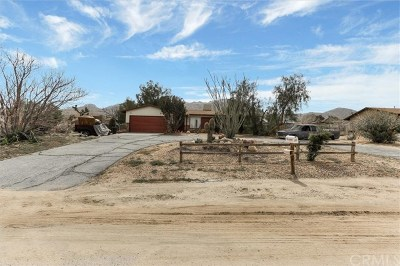Joshua Tree Single Family Home Active Under Contract: 60333 Latham Trail