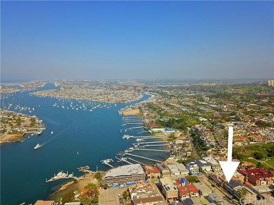 Corona Del Mar Condo/Townhouse For Sale: 2520 Seaview Avenue #1