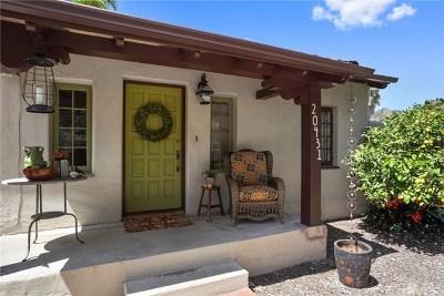 Laguna Beach Single Family Home For Sale: 20431 Sun Valley Drive