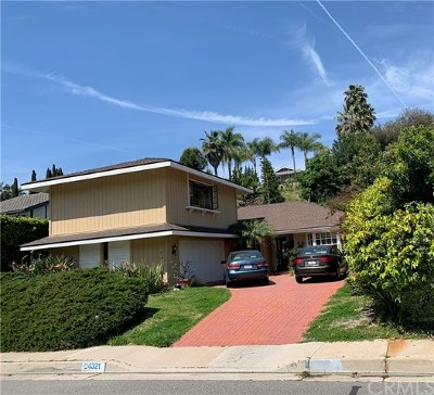 Laguna Niguel Single Family Home For Sale: 24321 La Hermosa Avenue