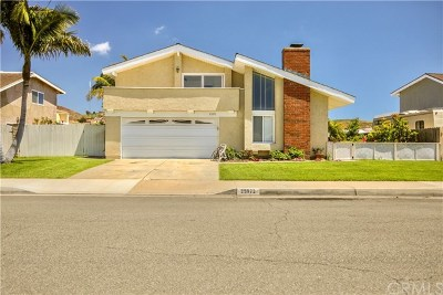 San Juan Capistrano Single Family Home Active Under Contract: 25972 Via Del Rey