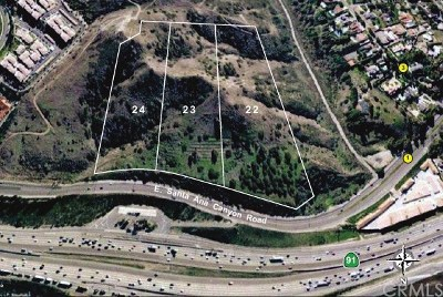 Anaheim Hills Residential Lots & Land For Sale: 1 Santa Ana Canyon Road E