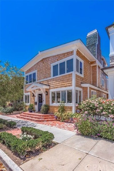 Newport Beach Single Family Home For Sale: 2205 Channel Road