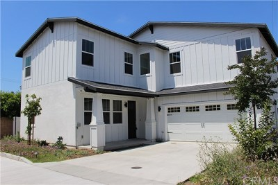 Costa Mesa Single Family Home For Sale: 163 Flower Street #B