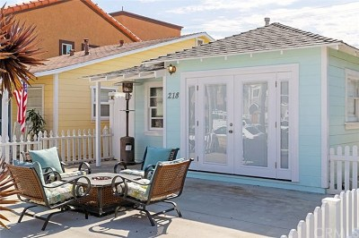 Huntington Beach Single Family Home For Sale: 218 11th Street