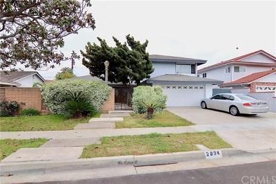 Costa Mesa Single Family Home For Sale: 2834 Monterey Avenue