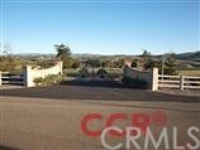 Arroyo Grande Residential Lots & Land For Sale: 175 Vista Montana