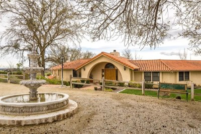 Paso Robles Single Family Home For Sale: 6342 Wellsona Road