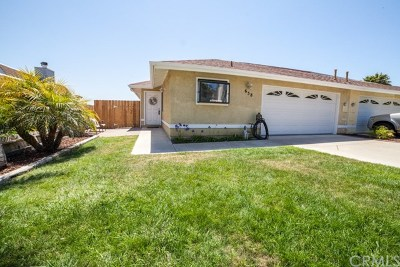 Pismo Beach CA Single Family Home For Sale: $639,000