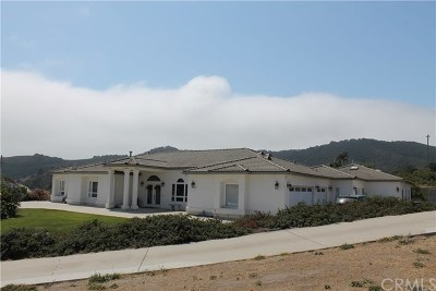 San Luis Obispo Single Family Home For Sale: 6850 Ontario Road