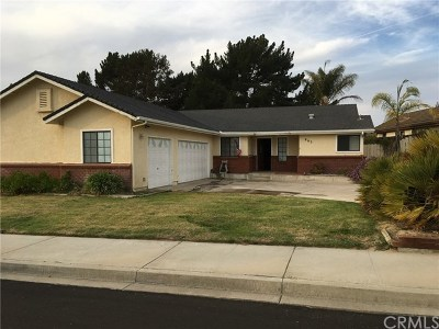Santa Maria Single Family Home For Sale: 865 Firefox Drive