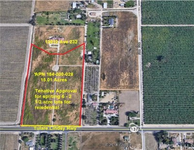 Tulare Residential Lots & Land For Sale: Avenue 232