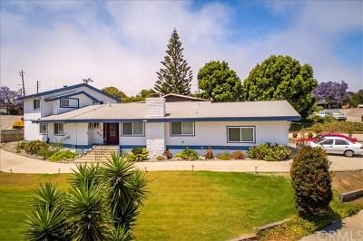 Pismo Beach, Arroyo Grande, Grover Beach, Oceano Single Family Home For Sale: 1 Angello Terrace