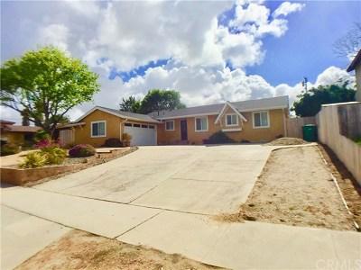 Santa Maria Single Family Home Active Under Contract: 4594 Martin Avenue