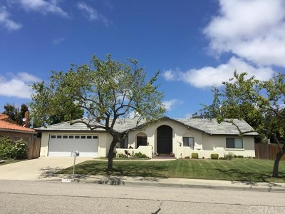 Santa Maria Single Family Home For Sale: 1117 Clubhouse Drive