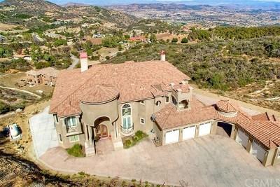 Murrieta CA Single Family Home For Sale: $2,395,000