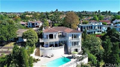 Palos Verdes Estates Single Family Home For Sale: 3013 Via Victoria