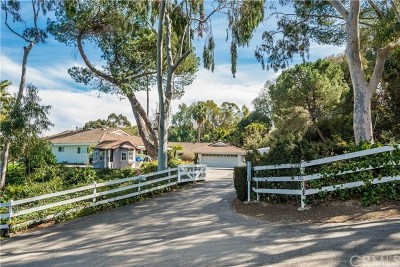 Rolling Hills Single Family Home For Sale: 2720 Palos Verdes Drive N