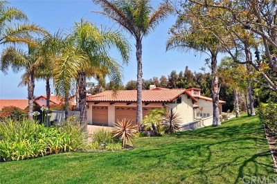 Rancho Palos Verdes Single Family Home Active Under Contract: 6735 Alta Vista Drive
