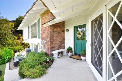 Rancho Palos Verdes Single Family Home For Sale: 28689 Roan Road