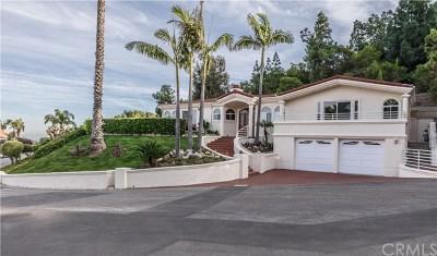 Rancho Palos Verdes Single Family Home For Sale: 10 Via Subida