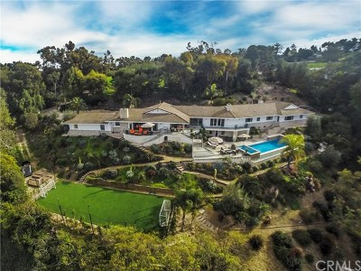 Rolling Hills CA Single Family Home For Sale: $5,900,000