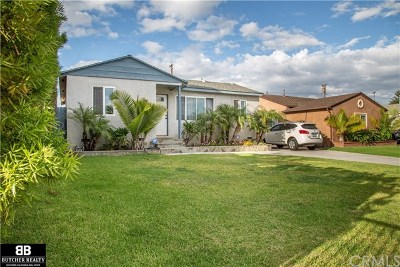 Torrance Single Family Home Active Under Contract: 1051 W 226th Street