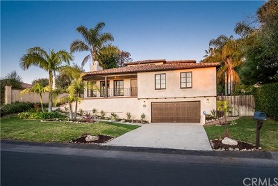 Palos Verdes Estates, Rancho Palos Verdes, Rolling Hills Estates Single Family Home For Sale: 2204 Via Pacheco