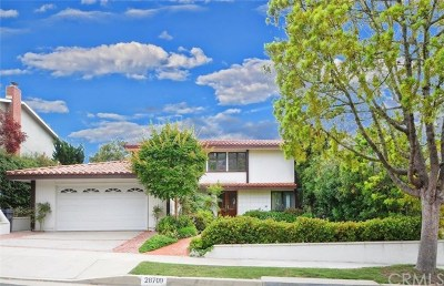 Rancho Palos Verdes Single Family Home For Sale: 28709 Rothrock Drive