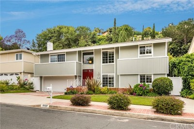 Rancho Palos Verdes Single Family Home For Sale: 27517 Elmbridge Drive
