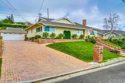 Rancho Palos Verdes Single Family Home For Sale: 30551 Santa Luna Drive