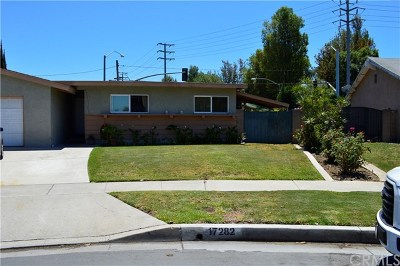 Tustin Single Family Home Active Under Contract: 17282 Medallion Avenue
